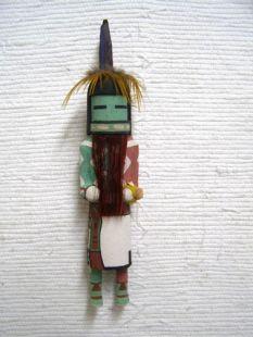 Old Style Hopi Carved Longhair Redbeard Traditional Rain Dancer Katsina Doll