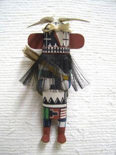 Old Style Hopi Carved Warrior Traditional Policeman Katsina Doll