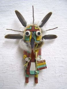 Old Style Hopi Carved Wupamo Traditional Guard Katsina Doll