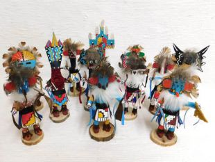 Native American Navajo Made Small Kachina Dolls