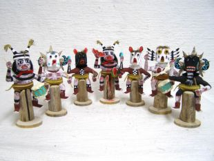 Native American Navajo Made Stump Sitter Kachina Dolls