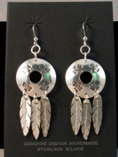 Native American Algonquin Made Earrings with Dragonflies