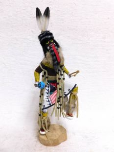 Native American Made Chakwaina Warrior Katsina Doll