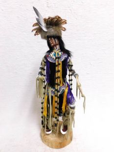 Native American Made Cheyenne Dog Soldier Warrior Katsina Doll