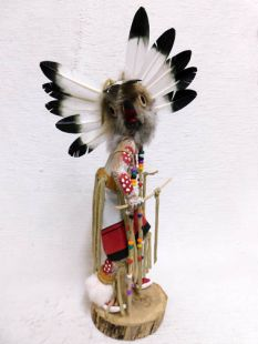 Native American Made Brown Owl Warrior Katsina Doll