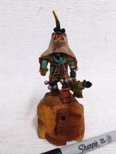 Native American Hopi Carved Wolf Hunter Katsina Doll-mini