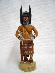 Native American Hopi Carved Blowing Sand Katsina Doll
