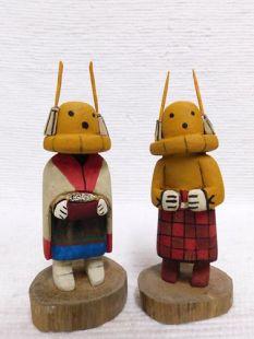 Native American Hopi Carved Cricket Racer Katsina Dolls