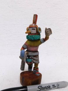 Native American Hopi Carved Hornet Katsina Doll