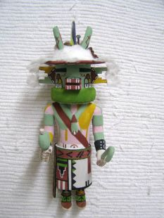 Old Style Hopi Carved Two-Horned God or the Germination God Traditional Katsina Doll
