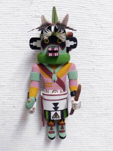 Old Style Hopi Carved Raccoon Traditional Protector Katsina Doll