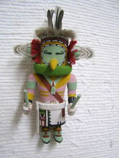 Old Style Hopi Carved Water Bird Traditional Katsina Doll