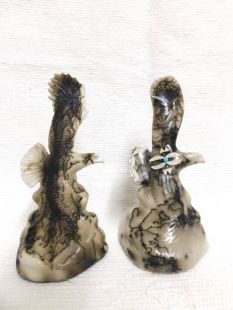 Native American Made Ceramic Horsehair Tiny Flying Eagle