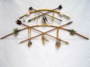 Native American Navajo Made Kids Bows with Crossed Arrows