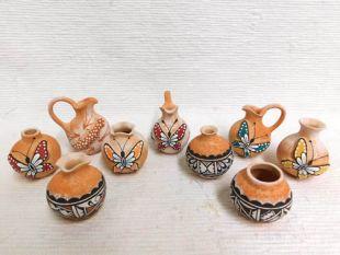Native American Zuni Handbuilt and Handpainted Pots