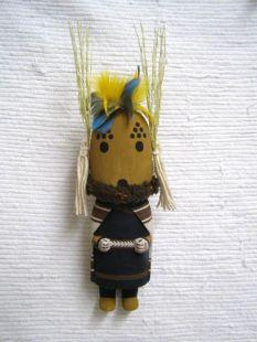 Old Style Hopi Carved Cricket Mana Traditional Katsina Doll