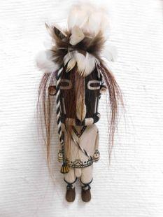 Old Style Hopi Carved Kokopelli Traditional Fertility Katsina Doll