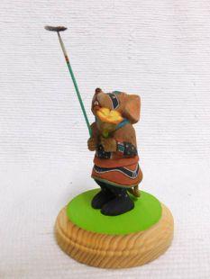 Native American Hopi Carved Warrior Mouse Hero Katsina Doll