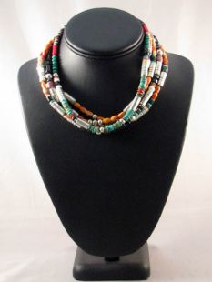 Vintage Native American Navajo Made Multistone Necklaces