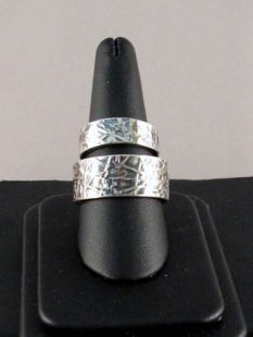 Native American Navajo Made Custom Sterling Silver Wedding Bands