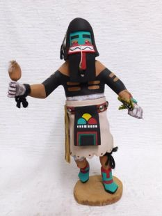 Antique Native American Hopi Carved Heoto Warrior Katsina Doll
