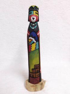 Native American Hopi Carved White Chin Katsina Sculpture