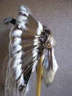 Native American Made Brown Prairie Warbonnet