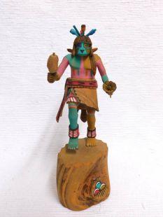 Native American Hopi Carved Flute Katsina Doll