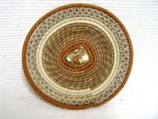 Native American Chippewa Made Basket--Desert Sands
