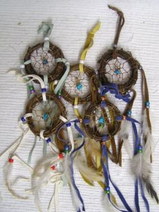 Native American Navajo Made Dreamcatchers--Willow