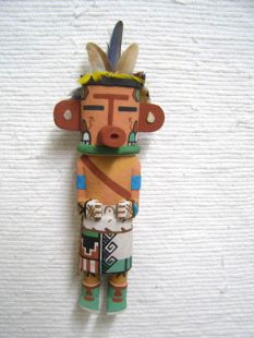 Old Style Hopi Carved Heheya Amutaga Traditional Messenger Katsina Doll