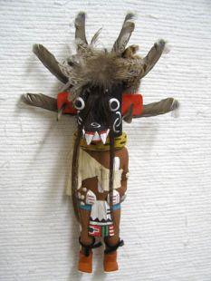 Old Style Hopi Carved Ogre Traditional Guard Katsina Doll