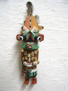 Old Style Hopi Carved Planet Traditional Fearsome Katsina Doll