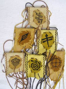 Native American Cherokee Made Totem Medicine Bags--Medium