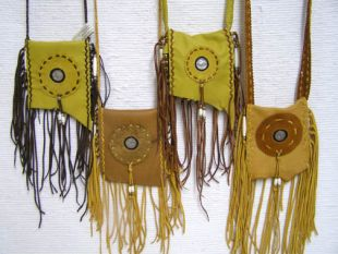 Native American Cherokee Made Buffalo Nickel Medicine Bags