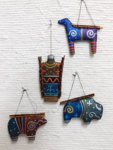 Native American Navajo Made Soft Sculpture Ornaments