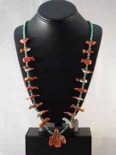 Vintage Native American Zuni Made Fetish Necklace