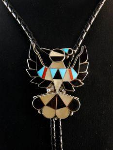Vintage Native American Zuni Made Thunderbird Bolo
