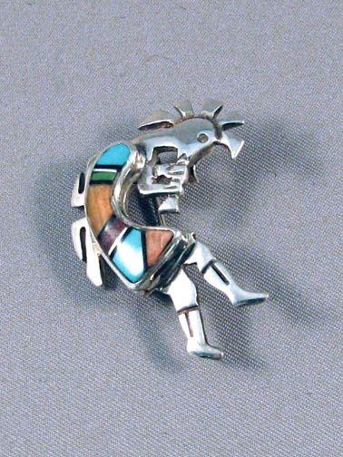 Native American Navajo Sterling Silver Kokopelli Pendant
