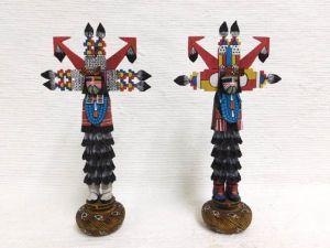 Native American Hopi Carved Shalako Dancer Katsina Dolls - BUY BOTH and SAVE!
