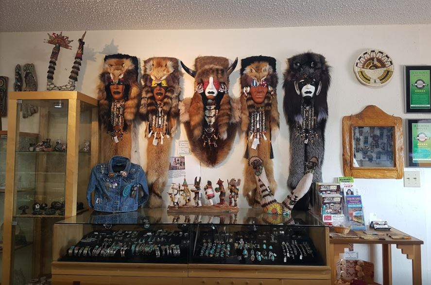 Native American Jewelry Display at Kachina House