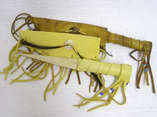 Native American Knife in Sheath