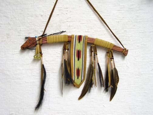 Red Native American Horse Spirit Dance Stick