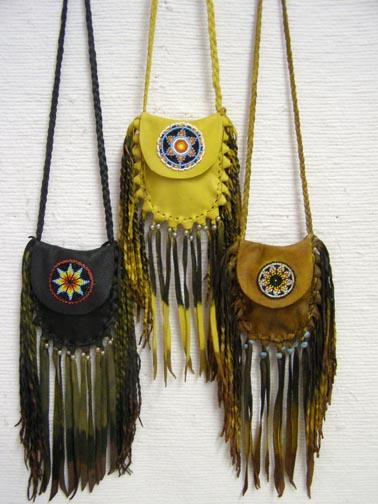 Native American Fancy Fringed Medicine Bags