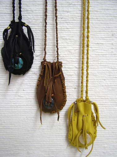 Native American Hour Glass Bags
