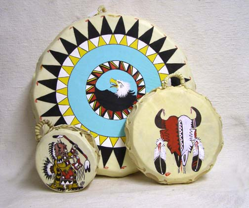 Native American Painted Drums