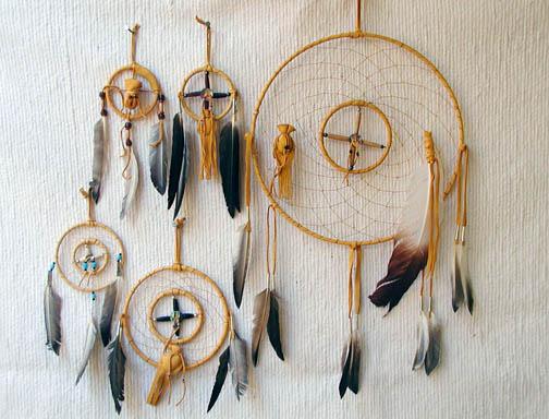 Navajo Made Medicine Wheel Dreamcatchers