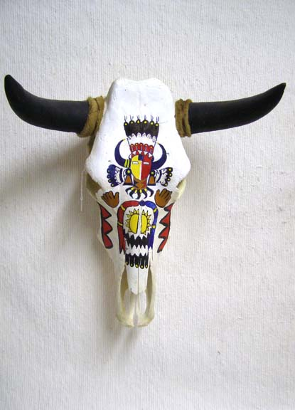 Native American Painted Skull