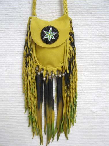 Native American Black Fringe Medicine Bag